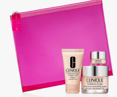 clinique 3 piece gift set+pouch