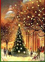 xmas tree + snow