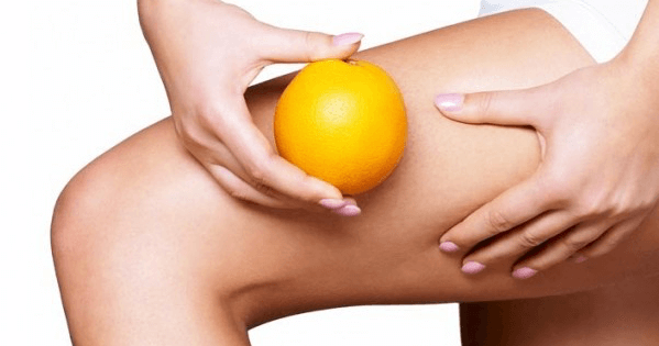 cellulite thigh orange