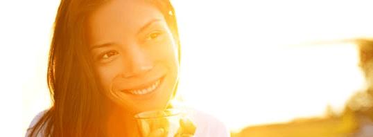 girl sitting in sunset