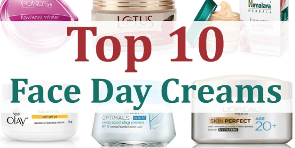 To 10 face day creams